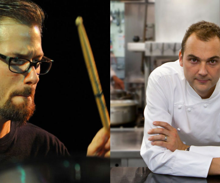 O baterista Benny Greb e o chef de cozinha Daniel Humm.