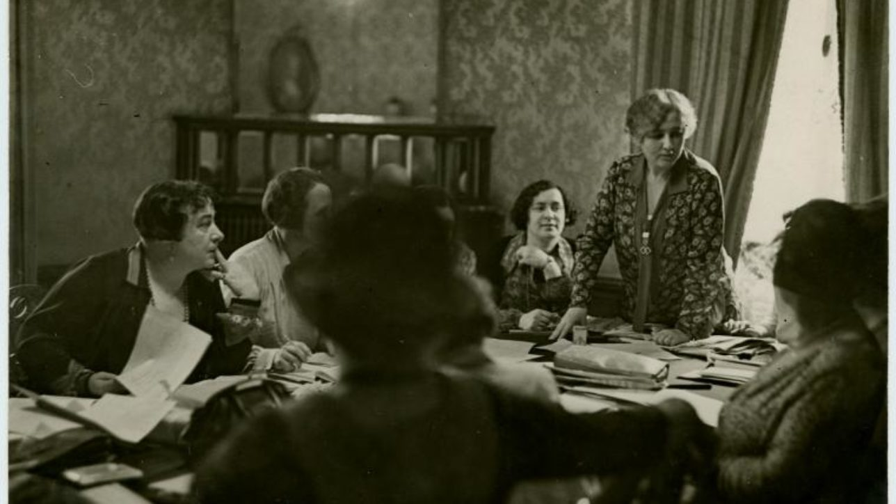"Manuscripts and Archives Division, The New York Public Library. ""Open Door meeting, 1929."" The New York Public Library Digital Collections. 1890 - 1960. http://digitalcollections.nypl.org/items/510d47e2-7813-a3d9-e040-e00a18064a99"