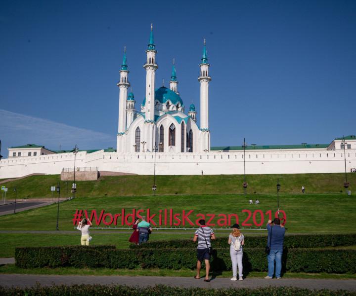 A mesquita de Kul Sharif dentro do Kremlin de Kazan.