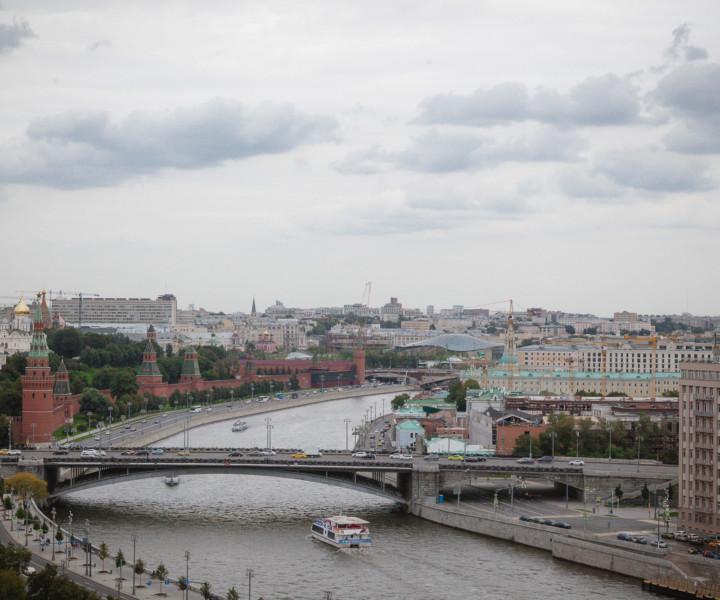 Parte de Moscou vista da Catedral do Cristo Salvador.