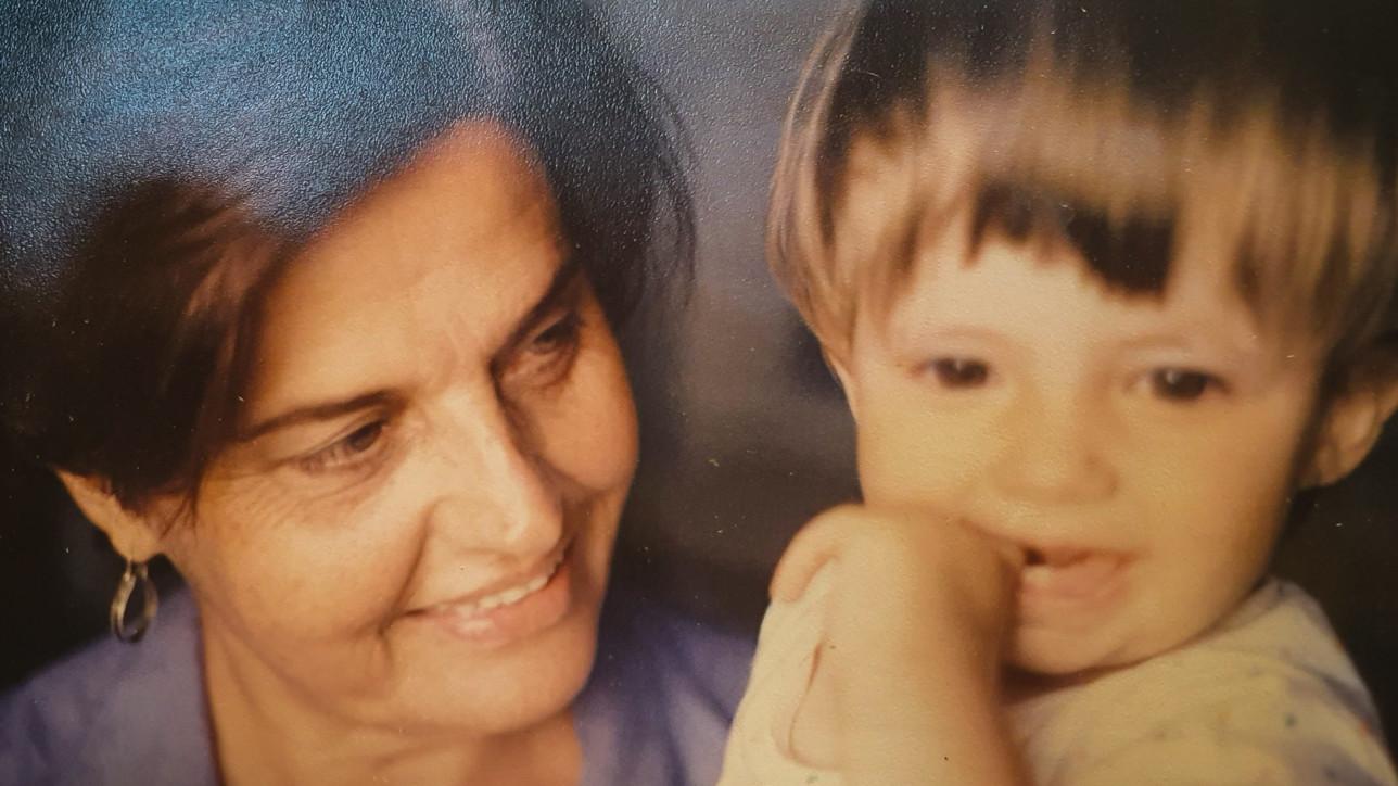D. Rachel e Tutu em 1985.